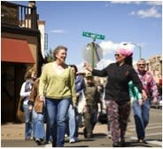 On a restaurant tour with Chef Mica, you learn by listening and earn every bite by walking. (Photo credit: Santa Fe School of Cooking)