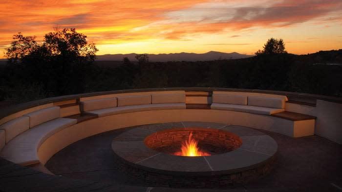 Spectacular Santa Fe sunsets are a bonus appetizer at Terra. (Photo credit: Four Seasons Resort Rancho Encantado)