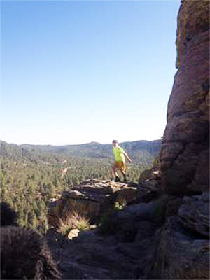 Get a mountain high with a yoga hike in Santa Fe. (Photo credit: YogiHiker)