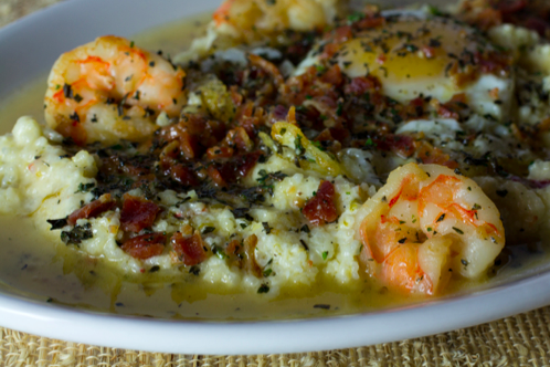 Spend some quality time with yourself enjoying shrimp and grits at Sweetwater.