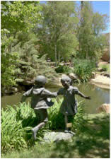 It makes everyone happy to see spring greenery return to Santa Fe at the Nedra Matteucci Sculpture Garden.
