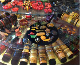 Doubletake's display is decorated with a bevy of Bakelite beauties.