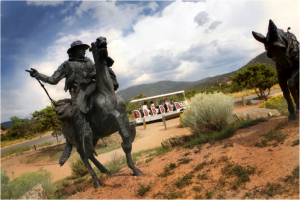 There's more than one way to ride in Santa Fe. (Photo Credit: Loretto Line Tours)