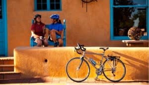 If you didn't think Santa Fe could get more magical, just add bike. (Photo courtesy of BNMI.)