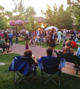 Picnic blanket or a pair of chairs; choose your seating on the Santa Fe Plaza for a Bandstand Concert.