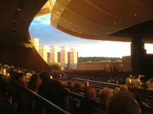 Sit, settle, and let the sun set before you're swept away by the music at the Santa Fe Opera.