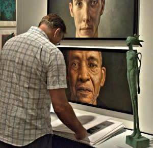 At Art Santa Fe, you can look at the art while it looks at you. (Photo Credit: Art Santa Fe)