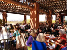 Panoramic views from the Museum Hill Café patio thrill adults and kids alike.