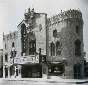 The Lensic Theater in its youth, circa 1934. (Photo Credit: Palace of the Governors Photo Archives)