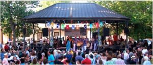 The Santa Fe Plaza Bandstand is where the summer action is!