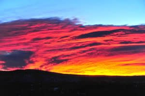 Santa Fe skies make a remarkable canvas for Mother Nature's artistry.