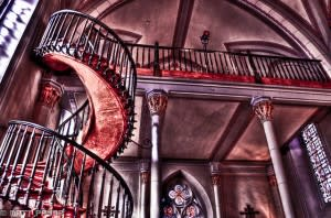 The Loretto Chapel staircase doesn't have a bad side