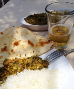 The chicken palak is a palate-pleaser at Raaga.
