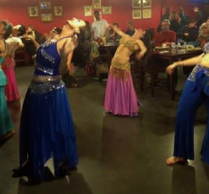 The Saltanah Dancers add some sultry spice to a meal at Cleopatra Café. (Photo Credit: Saltanah Dancers)
