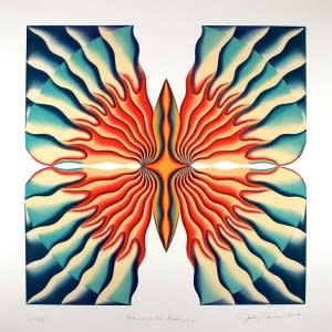 Judy Chicago: Return of the Butterfly, 2008 Lithograph from the Collection of the New Mexico Museum of Art (Photo Credit: New Mexico Museum of Art)