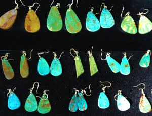 Turquoise earrings come in every shade.
