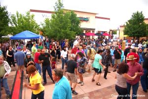 Santa Fe finds great food and Southside festivities at San Isidro Plaza. (Photo Credit: Michael Dellheim, courtesy of San Isidro Plaza)