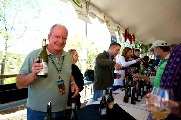There's always more to pour and sample at the SFWC Grand Tasting. (Photo Credit: Kate Russell for the Santa Fe Wine and Chile Fiesta)