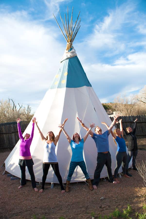 Hold the pose and reach for the sky at the Santa Fe Yoga Festival! (Photo Credit: Santa Fe Yoga Festival)