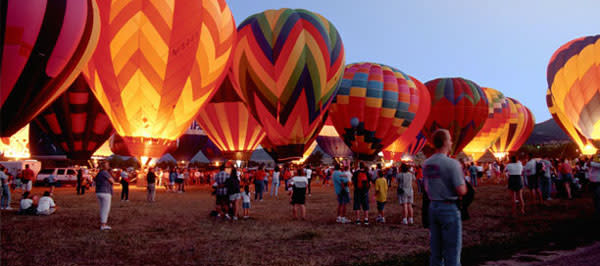 The shapes and colors boggle the imagination at the Albuquerque Balloon Fiesta!. (Photo Credit: visitalbuquerque.com)