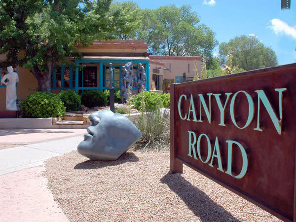 Canyon Road is worth some face time when you visit Santa Fe. (Photo courtesy of The Eldorado Hotel and Spa)