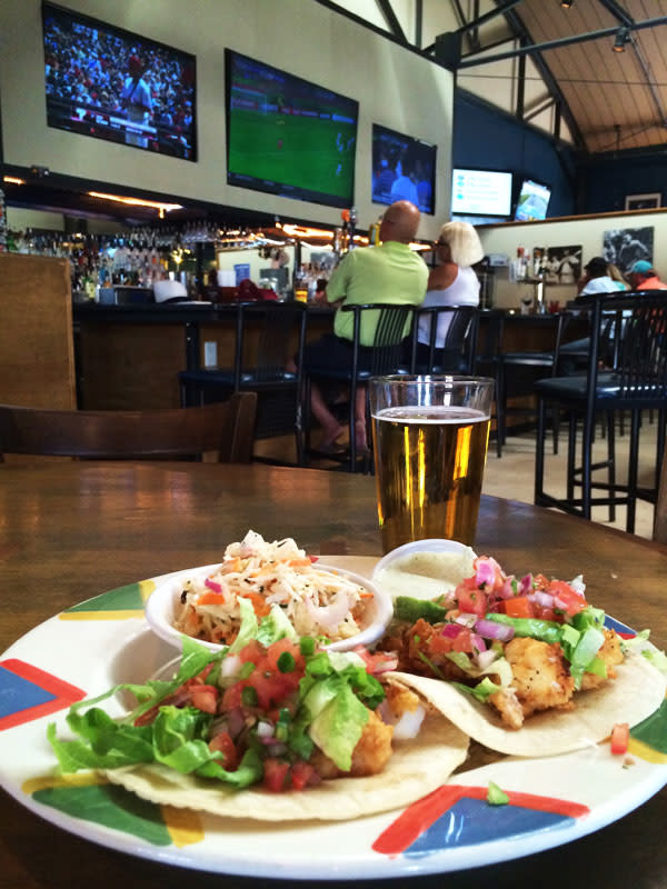 Tacos and big screen TVs to while away an afternoon at the Junction.