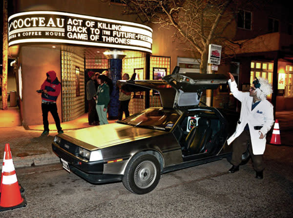 """The Jean Cocteau Cinema can take you """"Back to the Future"""" and then some. (Photo Credit: Clyde Mueller for the Santa Fe New Mexican)"""