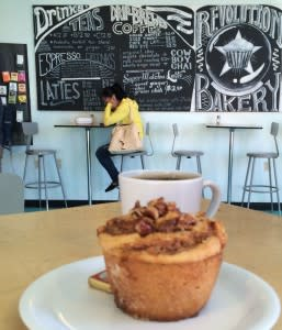 Behold the sticky bun at Revolution Bakery where gluten-free is a revelation.