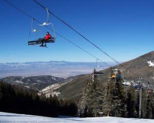 winter, ski, sports, santa fe, mountains