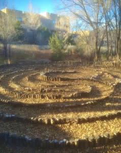 Santa Fe, New Mexico,  yoga maze