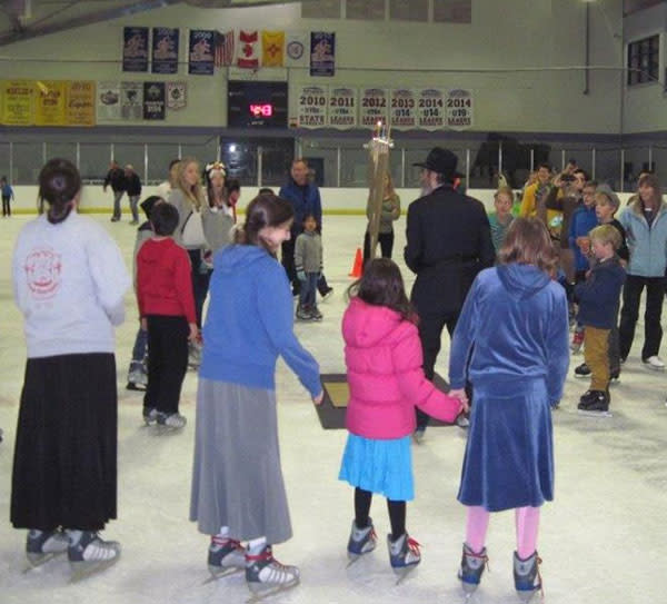 Holiday on Ice? A Hanukkah party at the Genoveva Chavez Rink made that happen and private parties are welcome! (Photo Credit: Genoveva Chavez Community Center)