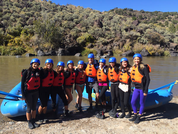 The Bachelor and his boat crew are ready to ride the rapids on the Rio Grande. (Photo Credit: ABC)