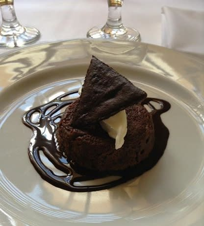 A taste of chocolate torte at the Compound is a sweet finish to Santa Fe Restaurant Week. (Photo Credit: The Compound)