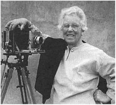 This 1979 photograph is witness to the fact that a large format camera was Laura Gilpin's life companion.