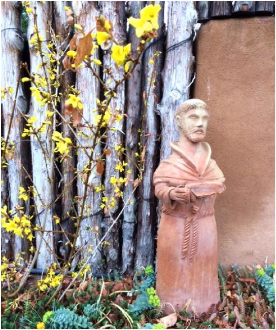 St. Francis, Santa Fe's patron saint, knows that spring is a harbinger of Santa Fe's Summer of Color.