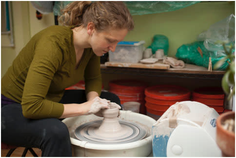 Start your Santa Fe Studio Tour at the beginning where the results of Carolyn Lobeck's pottery-making skills will be on display in Studio #1. (Photo Credit: Santa Fe Studio Tour)