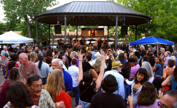 Let's rumba on the Santa Fe Plaza?  (Photo: Santa Fe  Bandstand)
