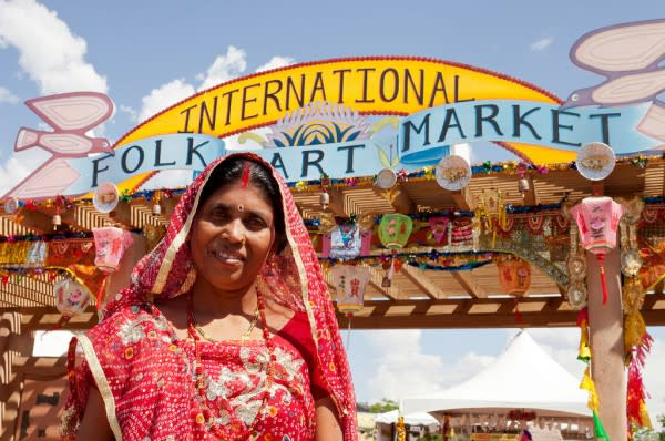 Smiles from over fifty-seven countries will grace Museum Hill this July. (Photo: International Folk Art Alliance)