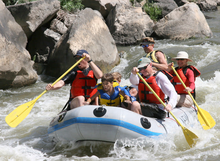 River rafting is a hold-on, no-holds-barred New Mexico adventure. (Photo Credit: Santa Fe Mountain Adventures)