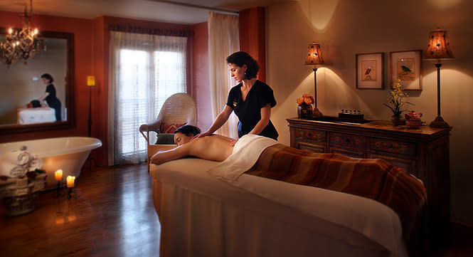Spa treatment at the Inn and Spa at Loretto