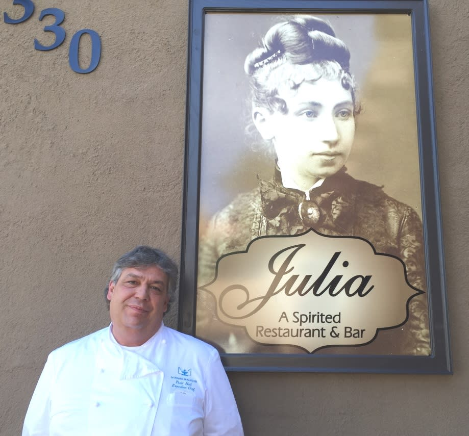 Chef Todd Hall and Julia Staab