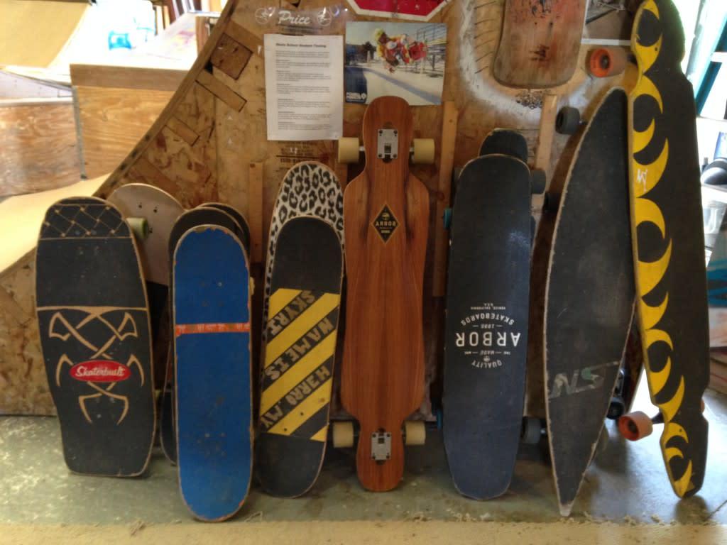 row of custom boards