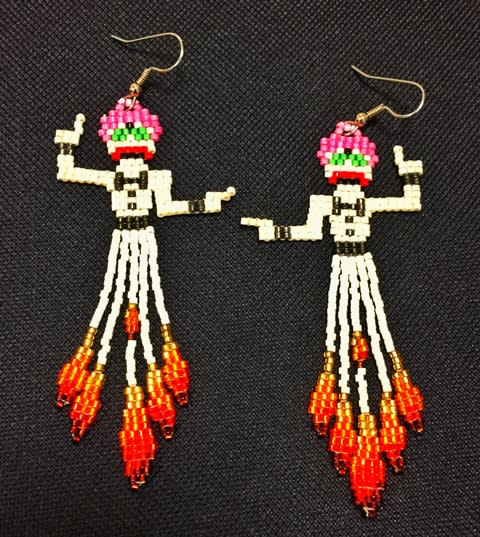 Zozozbra beaded earrings are no longer being produced, so if you find a pair, grab them! (Courtesy of Kim Harmon)