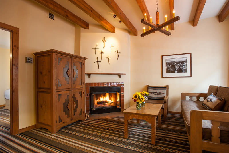 Each room at this hotel features hand-made wooden crosses created by the community members of Chimayó (Courtesy of Hotel Chimayó )