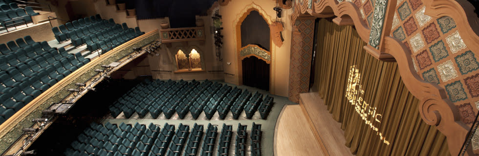 The pseudo-Moorish, Spanish Renaissance Lensic was built by Nathan Salmon and E. John Greer (Courtesy of Lensic Performing Arts Center)