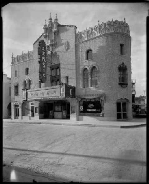 The Lensic Theater celebrated its Grand Opening in 1931. (Courtesy of Palace of the Governors Photo Archives. Lensic Theater, San Francisco Street, Santa Fe, New Mexico Negative 050969)