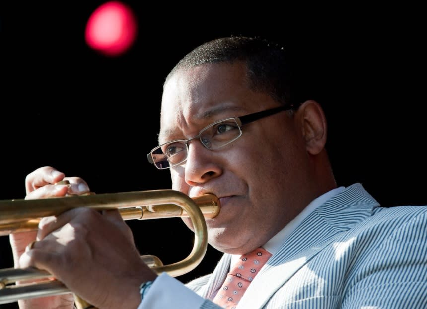 Hear Winston Marsalis live on stage. (Courtesy of Eric Delmar)