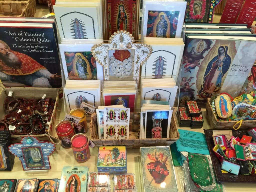 A wide selection of religious imagery can be found at the Speigelberg Shop at the New Mexico History Musuem