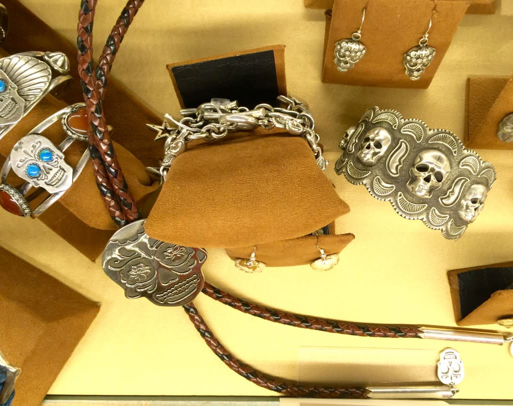 If you're looking for that special gift for someone who LOVES Dia de los Muertos, Ortega's has your piece.