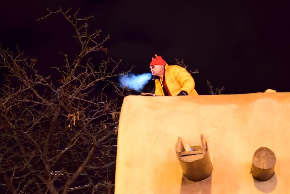 Look for a devilish display at Las Posadas on the Santa Fe Plaza. (Photo courtesy of New Mexico History Museum)